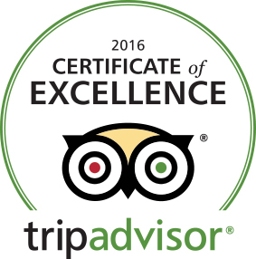 True Adventure certification of excellence from tripadvisor